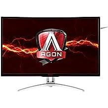 "AOC AGON AG322QCX 32""Curved LED Monitor, FreeSync, VA Panel, 2560x1440, 4ms, 300cd/m2, HA, VGA, (2) HDMI, (2) DP, Spk"