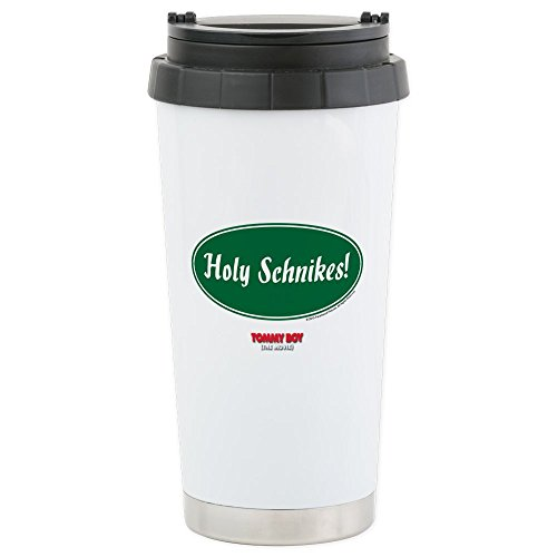 CafePress - Holy Schnikes Stainless Steel Travel Mug - Stainless Steel Travel Mug, Insulated 16 oz. Coffee Tumbler by CafePress