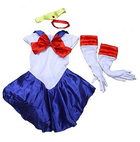 Female Sailor Moon Sailor Suit Party Nightclub Cosplay Costume (blue)