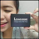 1 Box 80 g : Longsidee Collagen Gluta Milk Soap , By Taweekoon
