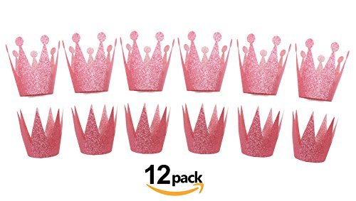 SIFAN 12 Piece Princess Party Crown, Pink