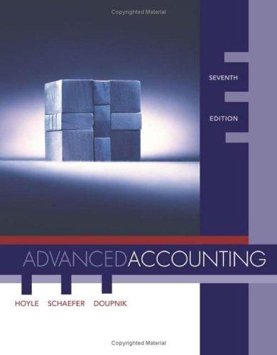 Advanced Accounting -