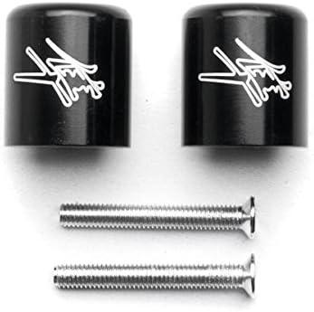 Krator Black Bar Ends Logo Hand Grip Handlebar End Caps For Suzuki Hayabusa GSX1300R 1999-2012
