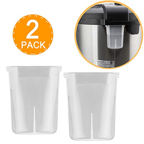 WISH Original Condensation Collector for Instant Pot 5, 6, 8 Quart Duo, Duo Plus, Ultra, Lux - 2 Pack