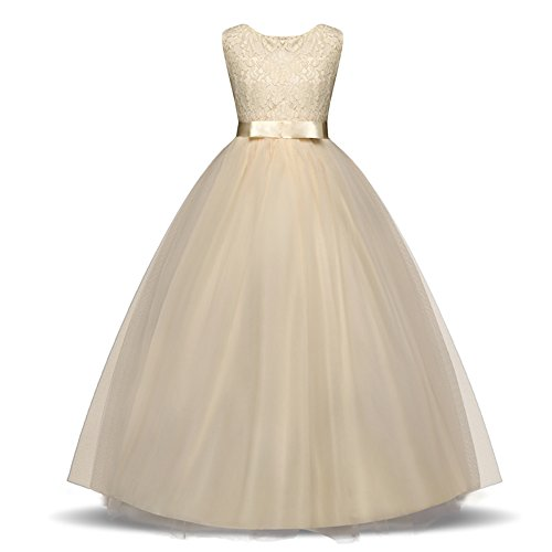Amazon.com: YNQNFS Girls Dress Kids Princess Dresses New Lace Kids Clothes Girls Wedding Dress: Clothing