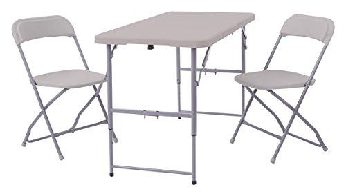 Office Star 2-Piece Blow Mold Folding Set, 2-Folding Chairs