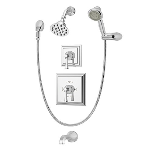 Triple Functions Handshower (Symmons 4506 Canterbury 2-Handle Tub/Shower/Handshower Faucet, Chrome)