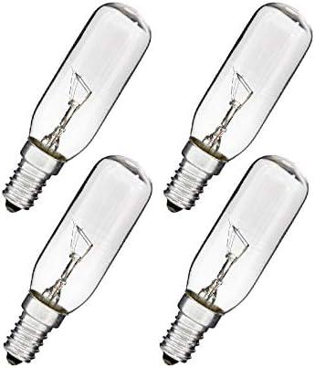 Bombillas de campana extractora, 40W 110-240V 3000K [4 piezas]: Amazon.es: Iluminación