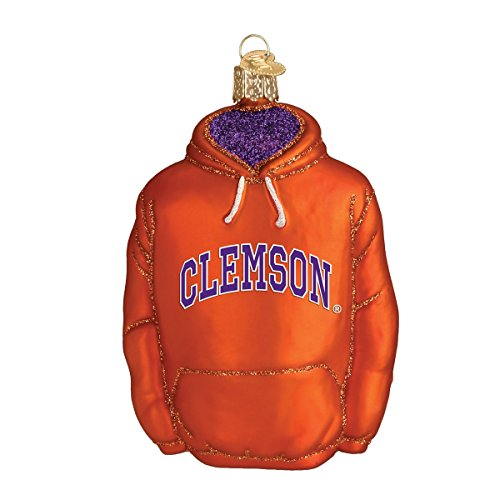 (Old World Christmas Ornaments: Clemson Hoodie Glass Blown Ornaments for Christmas Tree)