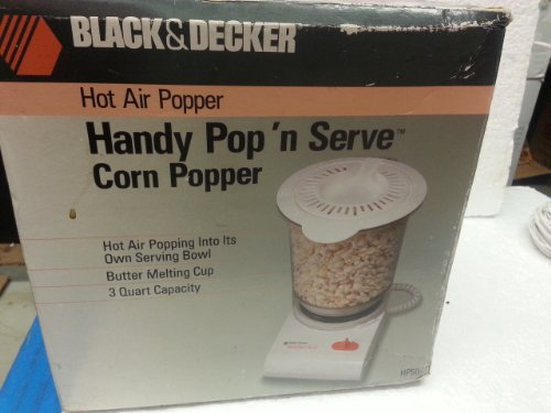 UPC 050875502109, Black & Decker Hot Air Popper Handy Pop N Serve Corn Popper