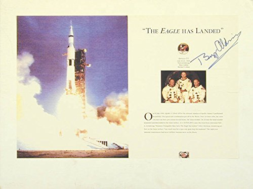 Colonel Buzz Aldrin - Book Page Signed