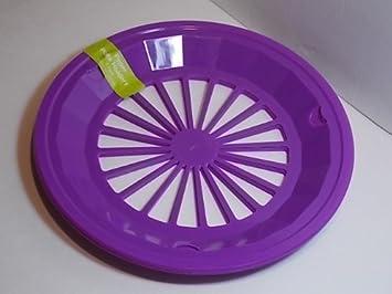PURPLE lavender lilac - Plastic Paper Plate Holders - Set of 4 Reusable & Amazon.com: PURPLE lavender lilac - Plastic Paper Plate Holders ...