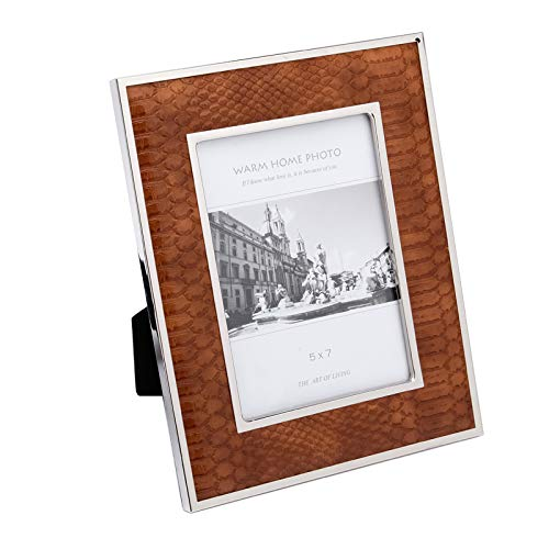 Leather Frame - Fulemay Leather Picture Frame 5X7 Inch Maroon Photo Frame for Tabletop and Wall Décor