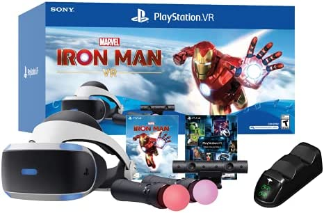 PlayStation VR Marvel's Iron Man VR Bundle W/Ghost Manta PS4 Charging Station Dock