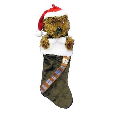 Kurt Adler Star Wars Chewbacca Plush Head Stocking, 20-Inch