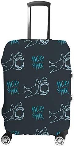 スーツケースカバー サメ 伸縮素材 キャリーバッグ お荷物カバ 保護 傷や汚れから守る ジッパー 水洗える 旅行 出張 S/M/L/XLサイズ