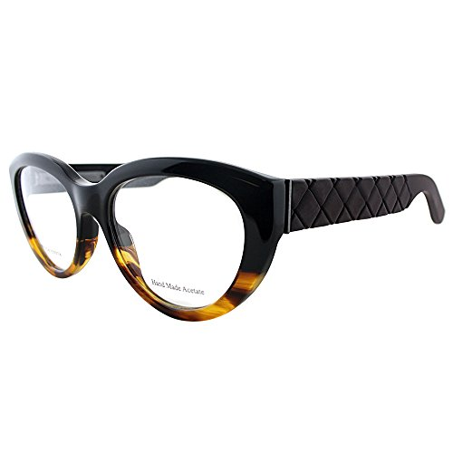Bottega Veneta Optical Frames with Hard Case and Cleaning Cloth, Amber, - Case Hard Frame Optical