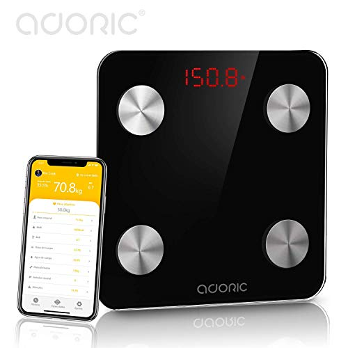 Balance graisse corporelle balance Bluetooth analyser Plus de 8 fonctions, moniteurs de Composition corporelle andriod Haut 5.0y iOS, Noël fête