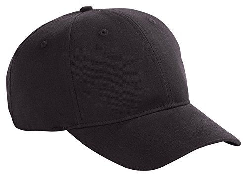 Closure 6 Panel Caps (Big Accessories 6-Panel Brushed Twill Structured Cap (BX002)- Black,One Size)