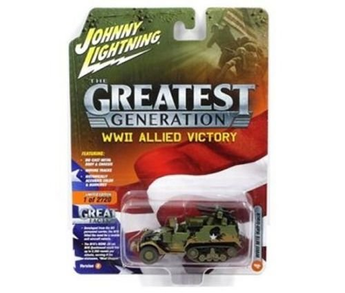 BRAND NEW DIECAST 1:64 THE GREAT GENERATION WWII ALLIED VICTORY - M16 HALF TRACK ( 1:87 ) DIRTY VERSION JLCP7071-24 BY JOHNNY LIGHTNING
