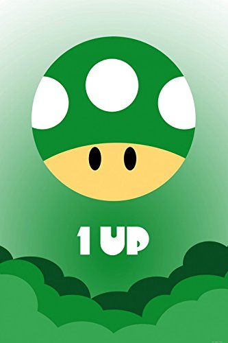 1art1 Gaming Poster Adhesive Photo Wall-Print - One Up Icon (71 x 47 inches)