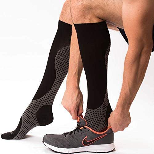 Compression Socks for Women & Men Knee High Compression Socks - Relieve Calf, Leg & Foot Pain - Graduated to Boost Circulation & Reduce Edema Swelling, FDA Registered, Nurse & Runner Recommended - L