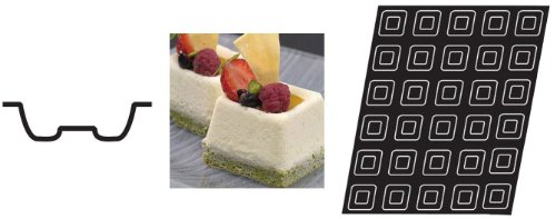 Flexipan 336343 Mini Square Savarin Nonstick Sheet Mold by Matfer Bourgeat (Image #2)
