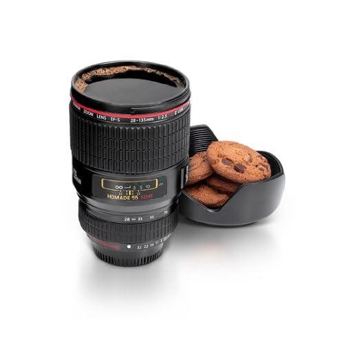 Thumbs Up Lens Cup Tazza Teleobiettivo, Nero