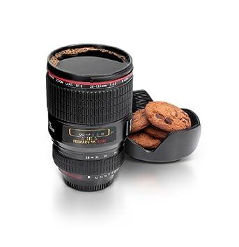 Elegant Camera Lens Cup, Black Images