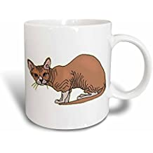 3dRose mug_150860_3 Hairless Cat Mug, 11 oz