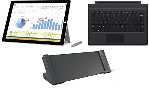Microsoft Surface Pro 3 (Type Cover and Surface Dock Bundle, 256 GB
