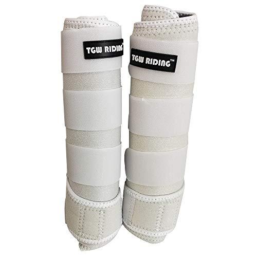 - TGW Riding Horse Sports Medicine Boots Horse Leg Wraps (White, L)