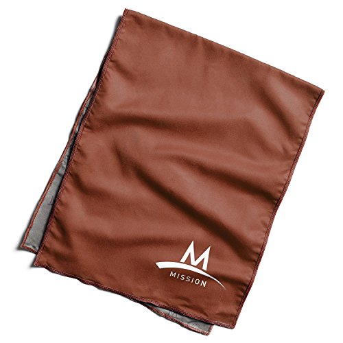 Mission Enduracool Techknit Cooling Towel, Burnt Red, Large by Mission (Image #1)