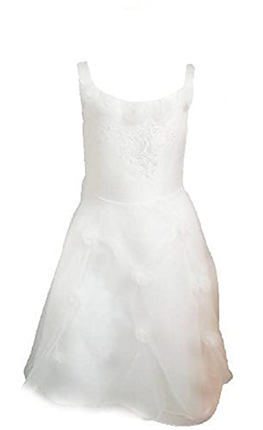 Fijo Día para vestido de novia vestido de niña Comunión Flores Vestido de niña bebé vestido