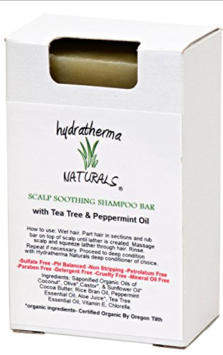 Tea Tree Scalp Soothing Shampoo Bar with Peppermint 3.75 oz