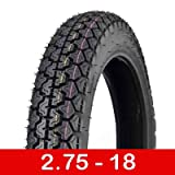 Tire 2.75 - 18 Front/Rear Motorcycle Dual Sport On/Off Road