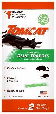 Tomcat Super Hold Rat Size Glue Traps, 2-Pack - Super Glue 2 Pack