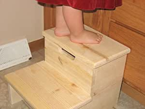 Amazon Com Unfinished Children S Step Stool Made In Usa