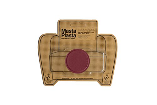 MastaPlasta Self-Adhesive Patch for Leather and Vinyl Repair, Small Circle, Red - 2 Inch Diameter