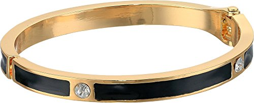 Guess Gold Bangles (GUESS Womens Status Queen Open Hinged Bangle Bracelet, Gold, One Size)