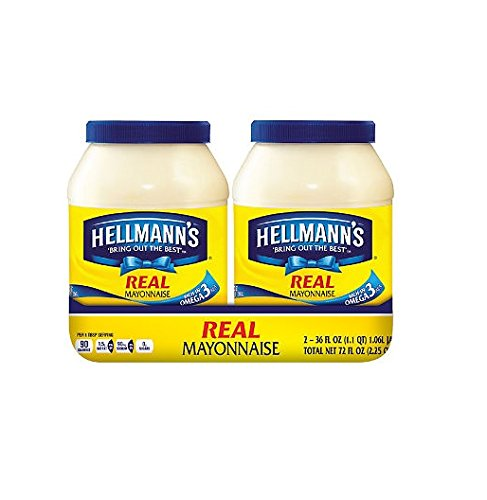 Hellmann's Real Mayonnaise (36 oz., 2 pk.) (pack of 2) by Hellmann's