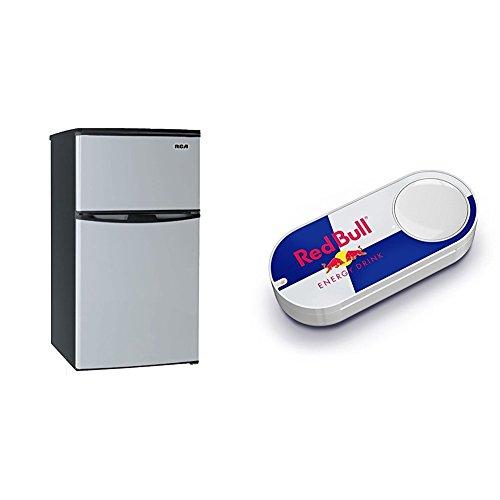 3.2 Cubc Foot 2 Door Fridge and Freezer, Stainless Steel & R