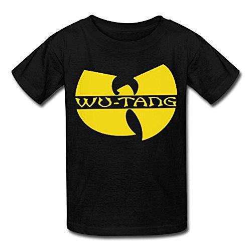ToWi Kid's Wu Tang Clan Classic Logo T-shirts Black M