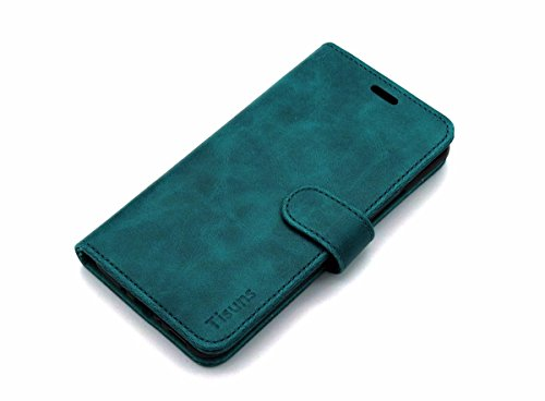HTC U11 Case, HTC Ocean Case,Tisuns HTC U11 Case, HTC Ocean Leather Case, Flip Folio Book Case, Money Pouch Wallet Cover with Kick Stand for HTC U11 / Ocean (Blackish Green)