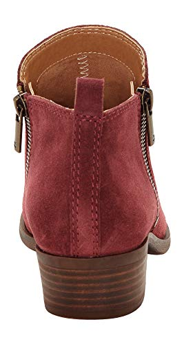 Lucky Brand Women's Basel Ankle Bootie, Sugar Red Suede, 10 M US