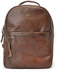 "Mochila Urbana De Piel Genuina con Bolsillo frontal y compartimento para Laptop 15"" Backpack Amsterdam Ya"
