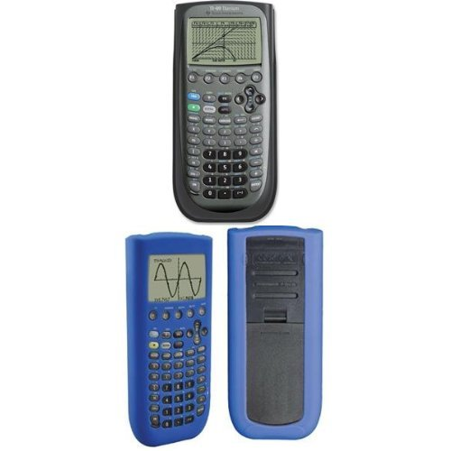 Texas Instruments TI-89 Titanium Graphing Calculator with Guerrilla Silicone Case (Blue)
