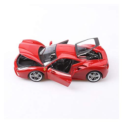 NMBD Diecast & Toy Vehicles 1/18 Alloy for Ferrari 488 GTB Car Model Red Ferrari Cars Collection Metal Miniature Diecasts & Toy Vehicles Car Toys for Boys