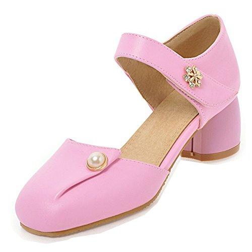 Bout De Escarpins Aisun Fiancée Chic Chaussures Carré Soirée Femme Rose Cheville Strass 7qYwqt
