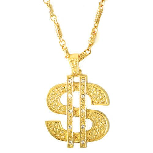 Goldkette gangster damen  Kette Dollar Symbol, gold: Amazon.de: Spielzeug